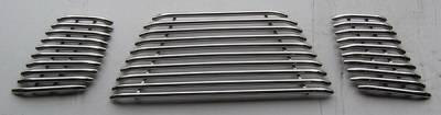 Grilles - Custom Fit Grilles - APS - Nissan Pathfinder APS Tubular Grille - Upper - Stainless Steel - N68432S