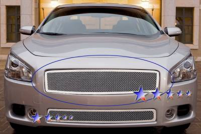Grilles - Custom Fit Grilles - APS - Nissan Maxima APS Wire Mesh Grille - Upper - Stainless Steel - N75218T