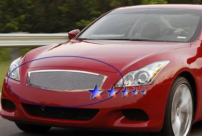 Grilles - Custom Fit Grilles - APS - Infiniti G37 APS Wire Mesh Grille - Upper - Stainless Steel - N75219T