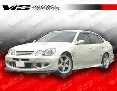 GS - Side Skirts - VIS Racing - Lexus GS VIS Racing Alfa Side Skirt - Carbon Fiber - 98LXGS34DALF-004C