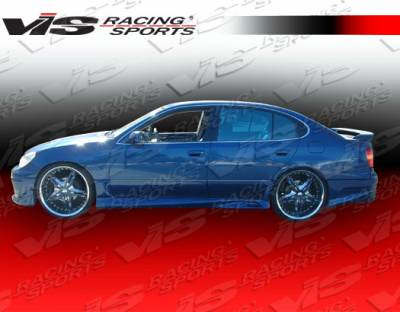 GS - Side Skirts - VIS Racing - Lexus GS VIS Racing Cyber-1 Side Skirts - 98LXGS34DCY1-004