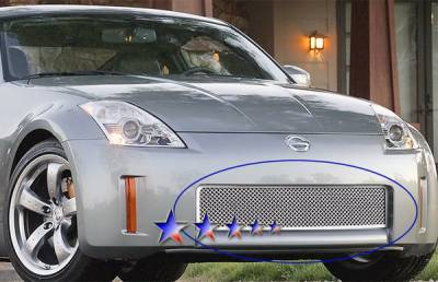 Grilles - Custom Fit Grilles - APS - Nissan 350Z APS Wire Mesh Grille - Upper - Stainless Steel - N75414S