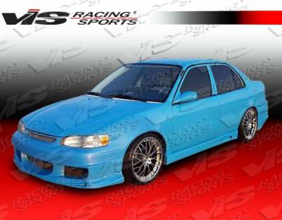 Corolla - Side Skirts - VIS Racing. - Toyota Corolla VIS Racing Ballistix Side Skirts - 98TYCOR4DBX-004