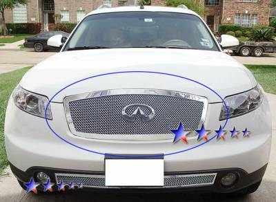 Grilles - Custom Fit Grilles - APS - Infiniti FX45 APS Wire Mesh Grille - Upper - Stainless Steel - N75606T