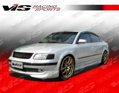 Passat - Side Skirts - VIS Racing - Volkswagen Passat VIS Racing Max Side Skirts - 98VWPAS4DMAX-004