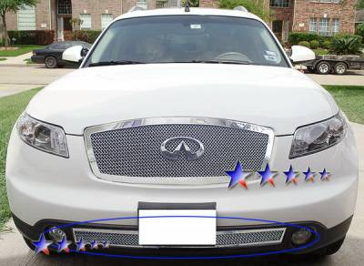Grilles - Custom Fit Grilles - APS - Infiniti FX35 APS Wire Mesh Grille - Bumper - Stainless Steel - N75607T