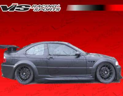 3 Series 2Dr - Side Skirts - VIS Racing. - BMW 3 Series 2DR VIS Racing DTM Widebody Side Skirts - 99BME462DDTMWB-004