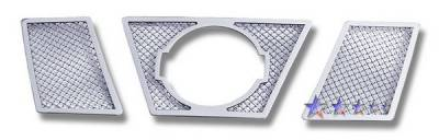 Grilles - Custom Fit Grilles - APS - Nissan Xterra APS Wire Mesh Grille - with Logo Opening - Upper - Stainless Steel - N76430T