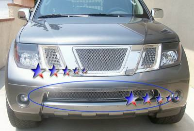 Grilles - Custom Fit Grilles - APS - Nissan Frontier APS Wire Mesh Grille - Bumper - Stainless Steel - N76433T