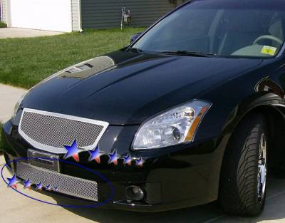 Grilles - Custom Fit Grilles - APS - Nissan Maxima APS Wire Mesh Grille - Bumper - Stainless Steel - N76464T