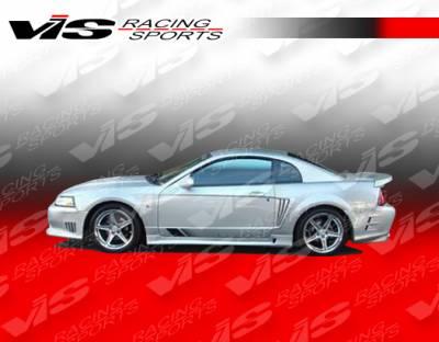 Mustang - Side Skirts - VIS Racing - Ford Mustang VIS Racing Stalker Side Skirts - 99FDMUS2DSTK-004