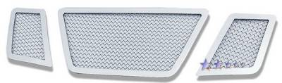 Grilles - Custom Fit Grilles - APS - Nissan Pathfinder APS Wire Mesh Grille - without Logo Opening - Upper - Stainless Steel - N76505T