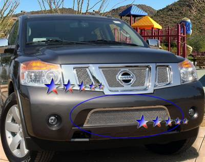 Grilles - Custom Fit Grilles - APS - Nissan Armada APS Wire Mesh Grille - Bumper - Stainless Steel - N76508T