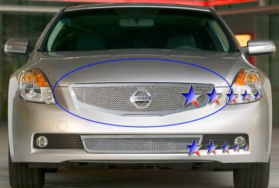 Grilles - Custom Fit Grilles - APS - Nissan Altima APS Wire Mesh Grille - Upper - Stainless Steel - N76566T