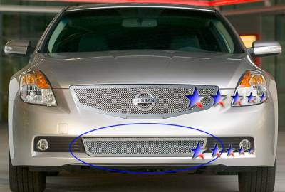 Grilles - Custom Fit Grilles - APS - Nissan Altima APS Wire Mesh Grille - Bumper - Stainless Steel - N76567T