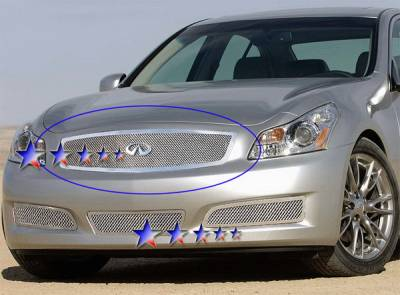 Grilles - Custom Fit Grilles - APS - Infiniti G35 4DR APS Wire Mesh Grille - Upper - Stainless Steel - N76583T