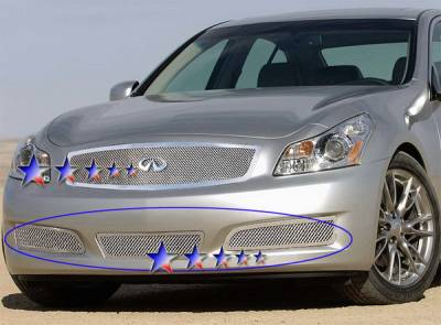 Grilles - Custom Fit Grilles - APS - Infiniti G35 4DR APS Wire Mesh Grille - Bumper - Stainless Steel - N76584T