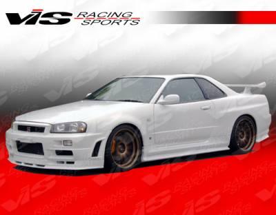 Skyline - Side Skirts - VIS Racing - Nissan Skyline VIS Racing V Spec Side Skirts - 99NSR34GTRVSC-004