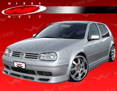 Golf - Side Skirts - VIS Racing - Volkswagen Golf VIS Racing JPC Type B Side Skirts - Polyurethane - 99VWGOF2DJPCB-004P