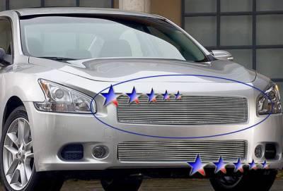 Grilles - Custom Fit Grilles - APS - Nissan Maxima APS Billet Grille - Upper - Aluminum - N85218A
