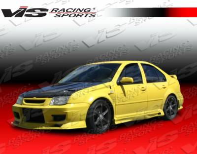 Jetta - Side Skirts - VIS Racing - Volkswagen Jetta VIS Racing Demon Side Skirts - 99VWJET4DDEM-004