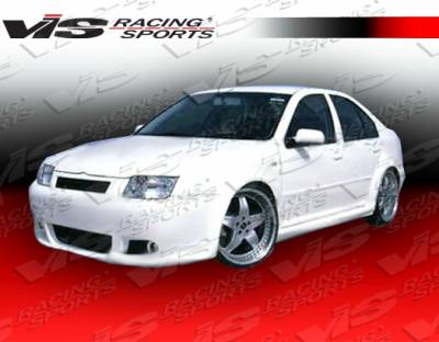 Jetta - Side Skirts - VIS Racing - Volkswagen Jetta VIS Racing Xtreme Side Skirts - 99VWJET4DEX-004