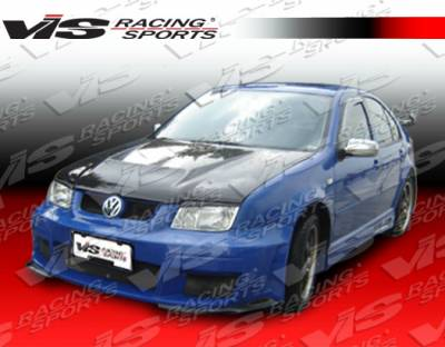 Jetta - Side Skirts - VIS Racing - Volkswagen Jetta VIS Racing G55 Side Skirts - 99VWJET4DG55-004