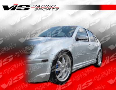Jetta - Side Skirts - VIS Racing - Volkswagen Jetta VIS Racing Otto Side Skirts - 99VWJET4DOTT-004