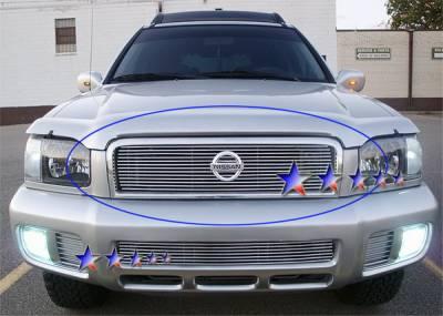 Grilles - Custom Fit Grilles - APS - Nissan Pathfinder APS Billet Grille - Upper - Aluminum - N85358A