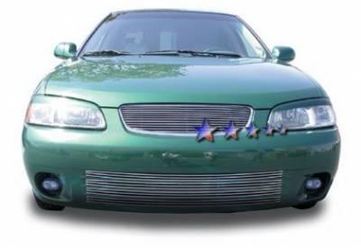 Grilles - Custom Fit Grilles - APS - Nissan Sentra APS Billet Grille - Upper - Aluminum - N85400A