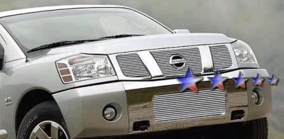 Grilles - Custom Fit Grilles - APS - Nissan Titan APS Billet Grille - Bumper - Aluminum - N85413A