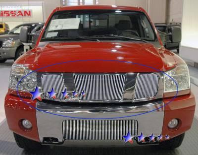Grilles - Custom Fit Grilles - APS - Nissan Armada APS Billet Grille - Upper - Aluminum - N85422V