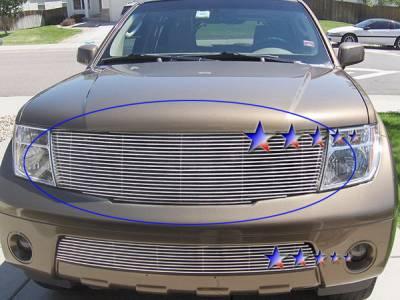 Grilles - Custom Fit Grilles - APS - Nissan Pathfinder APS Billet Grille - Upper - Aluminum - N85543A