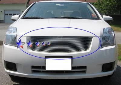 Grilles - Custom Fit Grilles - APS - Nissan Sentra APS Billet Grille - Upper - Aluminum - N86497A