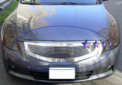 Grilles - Custom Fit Grilles - APS - Nissan Altima APS Billet Grille - Upper - Aluminum - N86566A