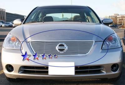 Grilles - Custom Fit Grilles - APS - Nissan Altima APS CNC Grille - Upper - Aluminum - N95406A