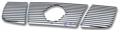 Grilles - Custom Fit Grilles - APS - Nissan Titan APS CNC Grille - with Logo Opening - Upper - Aluminum - N95412R
