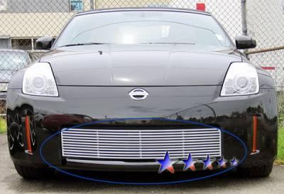 Grilles - Custom Fit Grilles - APS - Nissan 350Z APS CNC Grille - Upper - Aluminum - N95414A