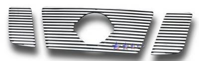 Grilles - Custom Fit Grilles - APS - Nissan Titan APS CNC Grille - with Logo Opening - Upper - Aluminum - N96506R