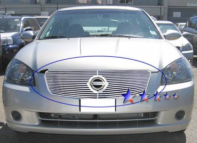 Grilles - Custom Fit Grilles - APS - Nissan Altima APS CNC Grille - with Logo Opening - Upper - Aluminum - N96592A