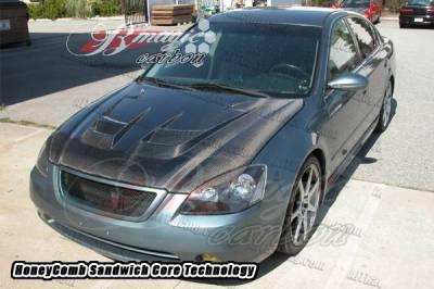 Altima - Hoods - AIT Racing - Nissan Altima AIT Racing Raiden Style Carbon Fiber Hood - NA02BMRDNCFH
