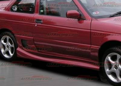 Sentra - Side Skirts - AIT Racing - Nissan Sentra AIT Racing Drift Style Side Skirts - NS91HIDFSSS