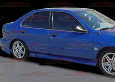 Sentra - Side Skirts - AIT Racing - Nissan Sentra AIT Racing Extreme Style Side Skirts - NS95HIEXSSS