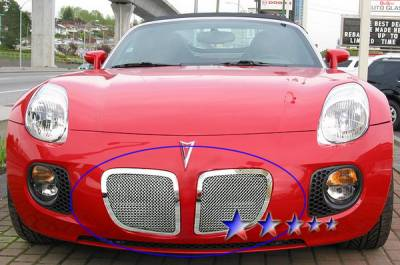 Grilles - Custom Fit Grilles - APS - Pontiac Solstice APS Wire Mesh Grille - Upper - Stainless Steel - P75545T