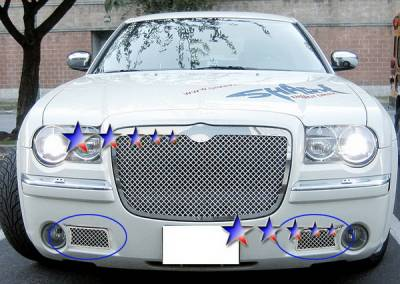 Grilles - Custom Fit Grilles - APS - Chrysler 300 APS Wire Mesh Grille - Bumper - Stainless Steel - R75309S