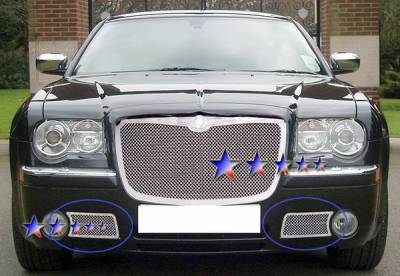 Grilles - Custom Fit Grilles - APS - Chrysler 300 APS Wire Mesh Grille - Bumper - Stainless Steel - R75309T