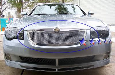 Grilles - Custom Fit Grilles - APS - Chrysler Crossfire APS Wire Mesh Grille - Upper - Stainless Steel - R76525T