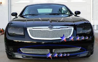 Grilles - Custom Fit Grilles - APS - Chrysler Crossfire APS Wire Mesh Grille - Bumper - Stainless Steel - R76526T