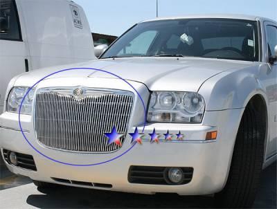 Grilles - Custom Fit Grilles - APS - Chrysler 300 APS Billet Grille - Upper - Aluminum - R85300V