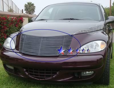 Grilles - Custom Fit Grilles - APS - Chrysler PT Cruiser APS Billet Grille - Upper - Aluminum - R85301A